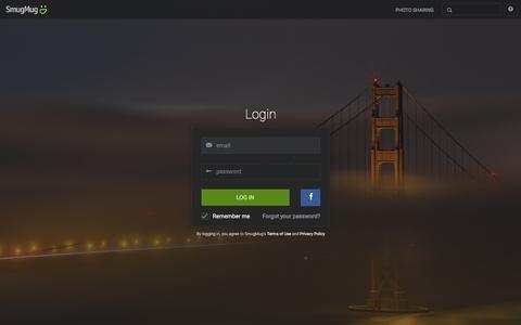 Screenshot of Login Page smugmug.com - Photo Sharing. Your Photos Look Better Here. - captured Feb. 2, 2016