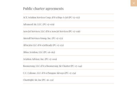 Public Charter Agreements   JetSmarter