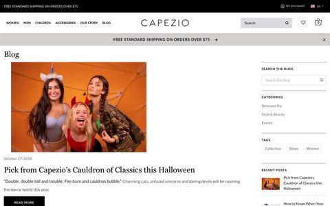 Screenshot of Blog capezio.com - Blog - captured Oct. 26, 2018