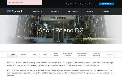 Screenshot of About Page rolanddg.com.au - About Roland DG | Roland DG Australia - captured Nov. 13, 2017