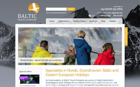 Screenshot of Home Page baltictravelcompany.com - Tour Baltic States, Holidays, Cruises & Travel in Scandinavia & Eastern Europe | Baltic Travel Company - captured May 31, 2017
