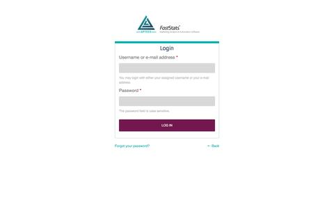 Screenshot of Login Page apteco.com - Login | Apteco - captured March 6, 2017