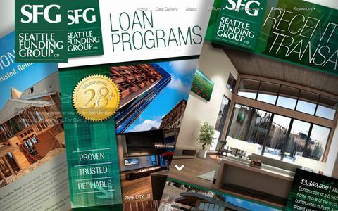 Screenshot of Home Page seattlefundinggroup.com - Seattle Funding Group - Leading Private Money Portfolio Lender - captured June 11, 2017