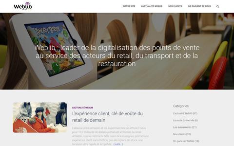 Weblib blog – Weblib : leader de la digitalisation des points de vente au service des acteurs du retail, du transport et de la restauration