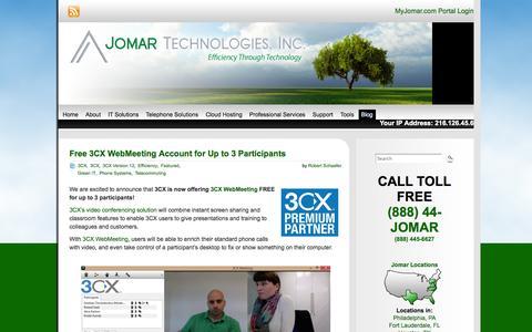 Screenshot of Blog jomartechnologies.com - Blog | Jomar Technologies, Inc. - captured Oct. 6, 2014