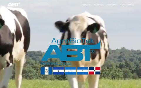 Screenshot of Home Page agrobiotek.com - AgroBioTek Laboratorios - captured July 11, 2017