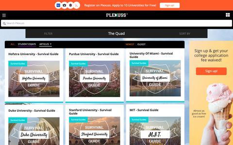 Screenshot of Press Page plexuss.com - State College News   College Recruiting Academic Network   Plexuss.com - captured Sept. 28, 2018