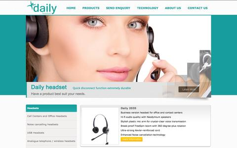 Screenshot of Products Page tungtech.com - Call center headset, office headset, noise cancelling headset, professional SoundTube telephone headset rj11-telephone headset for call center, office, contact center telemarketing - captured Oct. 7, 2014