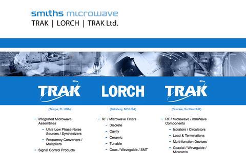 Screenshot of Home Page trak.com - TRAK Microwave Corporation - captured Oct. 7, 2014