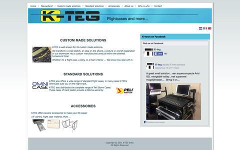 Screenshot of Home Page k-teg.com - K-TEG Flightsite - captured Sept. 30, 2014