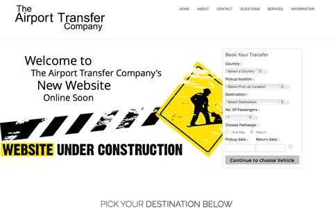 Screenshot of Home Page airport-transfer-company.com - The Airport Transfer Company - captured Sept. 1, 2015