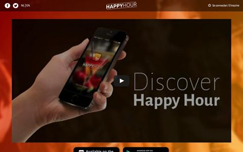Screenshot of Home Page happy-hours.be - Happy Hour - captured Oct. 9, 2015