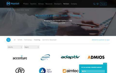 Find a Training Partner   MuleSoft