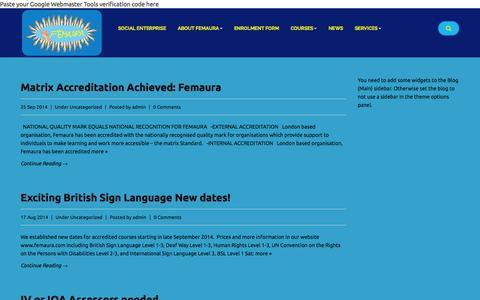 Screenshot of Press Page femaura.com - Femaura News - Femaura - captured Sept. 30, 2014
