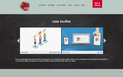 Screenshot of Case Studies Page kasradesign.com - Case Studies Archive - Kasra Design - captured Sept. 22, 2014