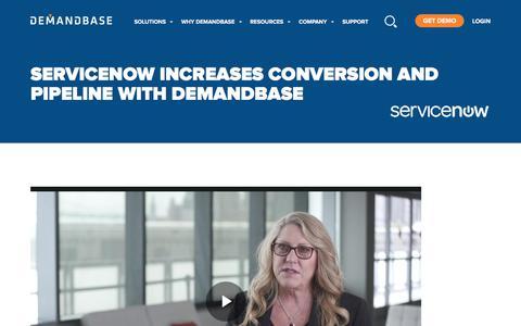 Screenshot of Case Studies Page demandbase.com - ServiceNow Increases Conversion and Pipeline with Demandbase | Account-Based Marketing – Demandbase - captured Nov. 6, 2019
