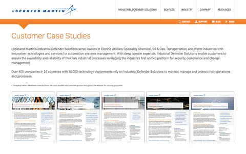 Screenshot of Case Studies Page lockheedmartin.com - Case Studies - captured Sept. 16, 2014
