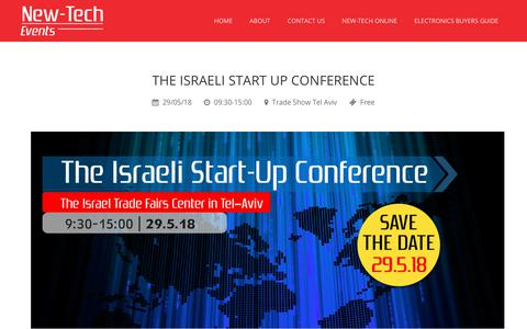 Screenshot of Signup Page new-techevents.com - THE ISRAELI START UP CONFERENCE - New Tech Events - captured Feb. 16, 2018