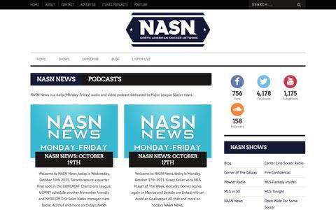 Screenshot of Press Page nasn.tv - NASN News | NASN - captured Oct. 7, 2014