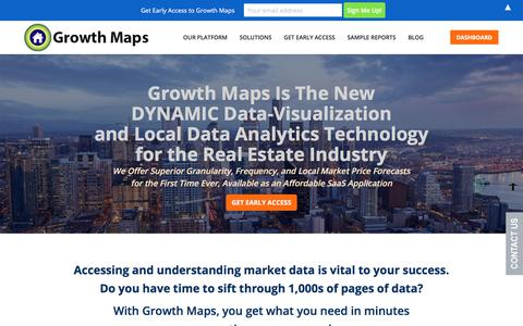 Screenshot of Home Page growth-maps.com - Growth Maps | Real Estate Forecast, Growth and Marketing Analysis - captured July 7, 2018
