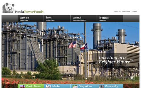 Screenshot of Home Page pandafunds.com - Private Equity Energy Funds & Power Plant Financing | Panda Power Funds - captured Oct. 1, 2014