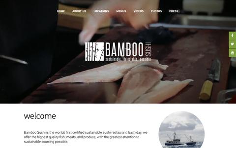 Screenshot of Home Page bamboosushi.com - Bamboo Sushi Home - Bamboo Sushi - captured March 3, 2016