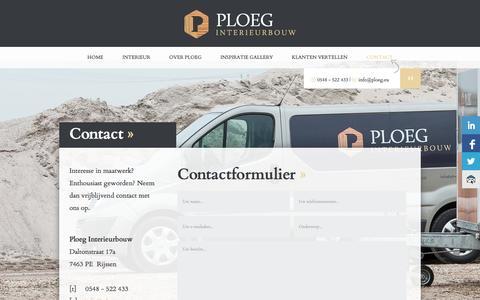 Screenshot of Contact Page ploeg.eu - Contact - captured Oct. 3, 2014