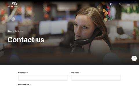 Screenshot of Contact Page sonepar.com - Contact us | Sonepar - captured Dec. 11, 2018