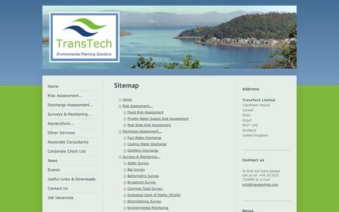 Screenshot of Site Map Page transtechltd.com - Welcome To TransTech - captured Oct. 1, 2014