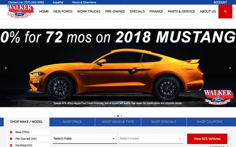 Screenshot of Home Page walkerford.com - Walker Ford | Clearwater, FL | New & Used Ford Dealership - captured Nov. 15, 2018