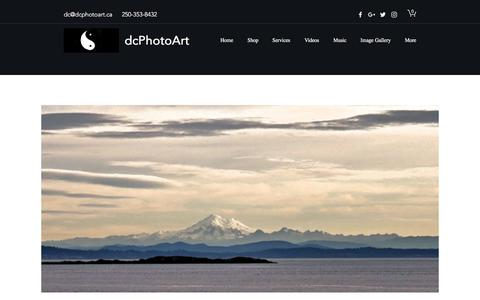 Screenshot of Home Page dcphotoart.ca - Greeting Cards   Central Kootenay D   DcPhotoArt - captured Aug. 8, 2018