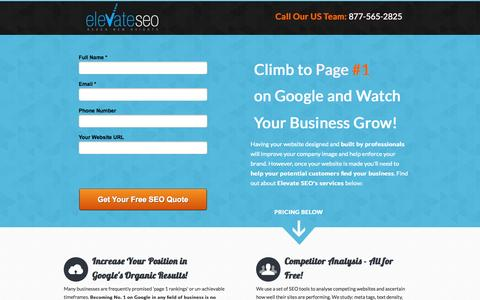 Screenshot of Landing Page webcreationus.com - SEO - WebCreationUS, Search Engine Optimisation, $250 Per Month! - captured Oct. 27, 2014