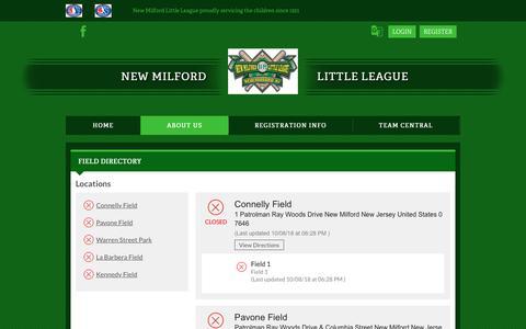 Screenshot of Locations Page bluesombrero.com - Locations - captured Oct. 23, 2018