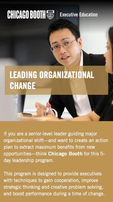 Executive Education at Chicago Booth | Leading Organizational Change