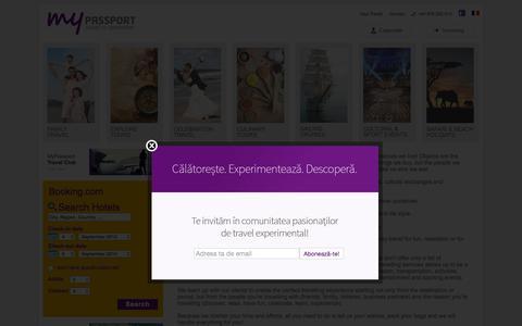 Screenshot of Home Page mypassport.ro - MyPassport | Oferim experiente de calatorie complete, compuse dintr-o gama larga de servicii personalizate de la recomandari de locatii, cazare si transport pana la activitati, excursii, locuri de vizitat, rezervari la restaurante si bilete de intrar - captured Sept. 4, 2015