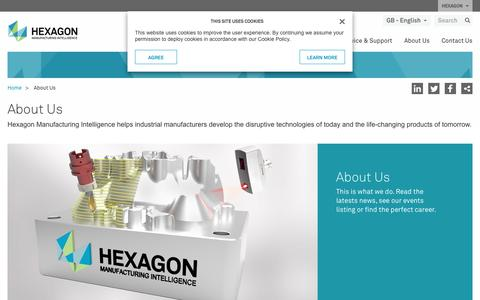 Screenshot of About Page hexagonmi.com - About Us | Hexagon Manufacturing Intelligence - captured July 9, 2017
