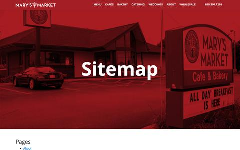 Screenshot of Site Map Page marysmarket.com - Sitemap - Mary's Market : Mary's Market - captured Dec. 7, 2018