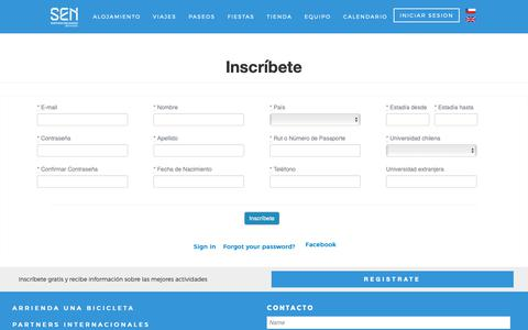 Screenshot of Signup Page santiagoexchange.com captured Oct. 2, 2018