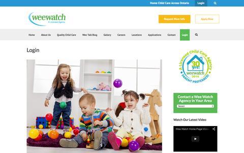 Screenshot of Login Page weewatch.com - Wee Watch Login - Wee Watch - captured Feb. 25, 2016