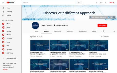 John Hancock Investments - YouTube - YouTube