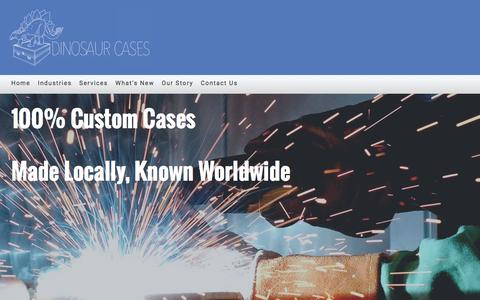 Screenshot of Home Page dinosaurcases.com - Home - Dinosaur Cases - captured Aug. 2, 2016