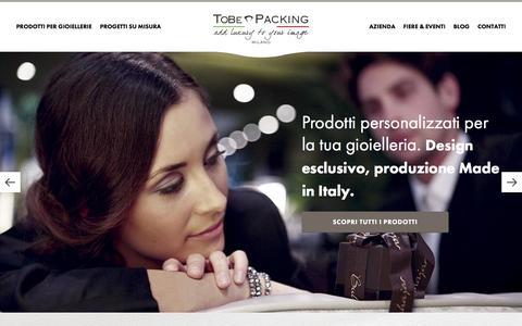 Screenshot of Home Page tobe.it - To Be Packing | Packaging personalizzati per gioiellerie - captured Feb. 16, 2016