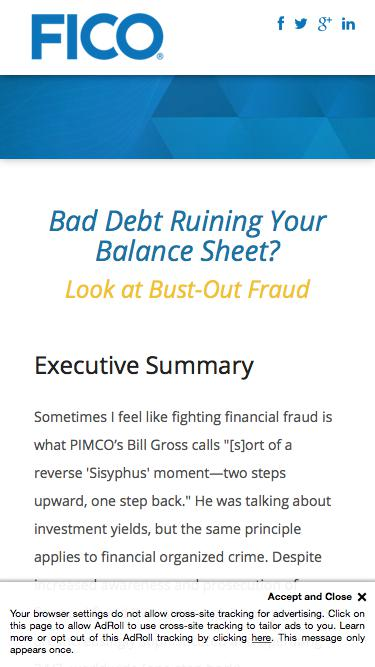 Download the FICO White Paper - Uncovering Bust-Out Fraud