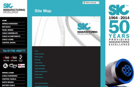Screenshot of Site Map Page sicltd.com - SIC Ltd Site Map | List of All Pages - captured July 21, 2016
