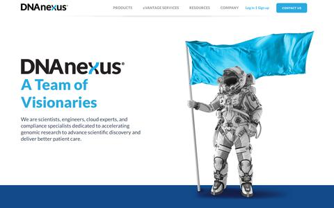 Screenshot of Team Page dnanexus.com - Our Team | DNAnexus - captured May 16, 2019