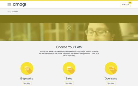 Screenshot of Jobs Page amagi.com - Join Us – Work With Us - captured Nov. 20, 2016