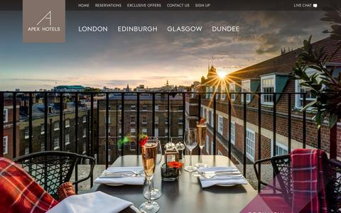 Screenshot of About Page apexhotels.co.uk - Best Hotel Brands in the UK | About | Apex Hotels - captured Feb. 6, 2016