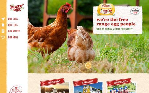 Screenshot of Home Page thehappyegg.co.uk - The Happy Egg Company UK - Free Range Eggs are Happy Eggs! - captured Nov. 22, 2015