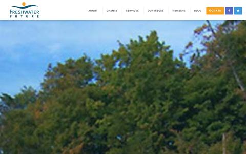 Screenshot of Home Page freshwaterfuture.org - Freshwater Future - captured Jan. 8, 2016