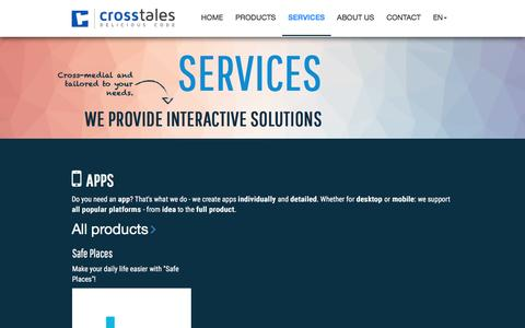 Screenshot of Services Page crosstales.com - Services - We provide interactive solutions | crosstales - captured May 23, 2017